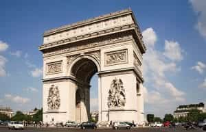 arc de triomphe in Parijs